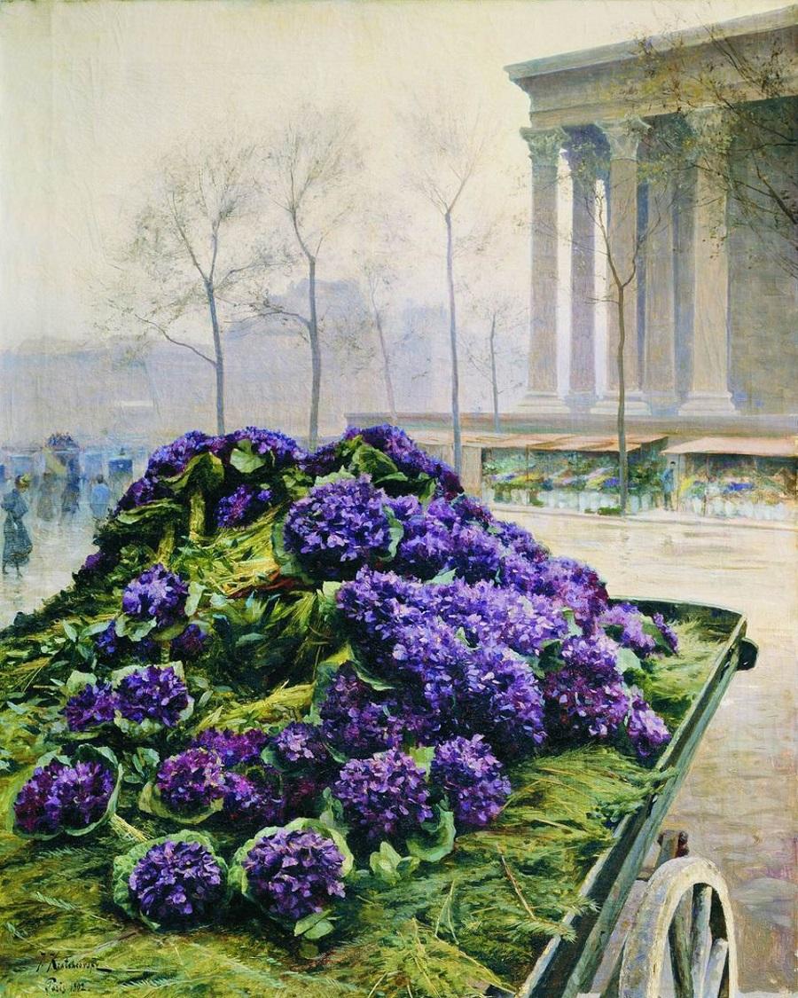 Фиалки из Ниццы. 1902 Государственный Русский музей, Санкт-Петербург