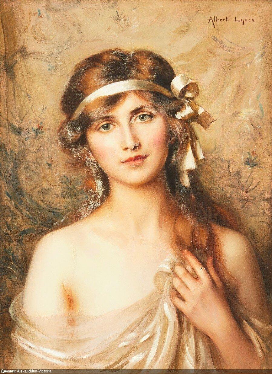 Альберт Линч (1851-1912) Белая лента.