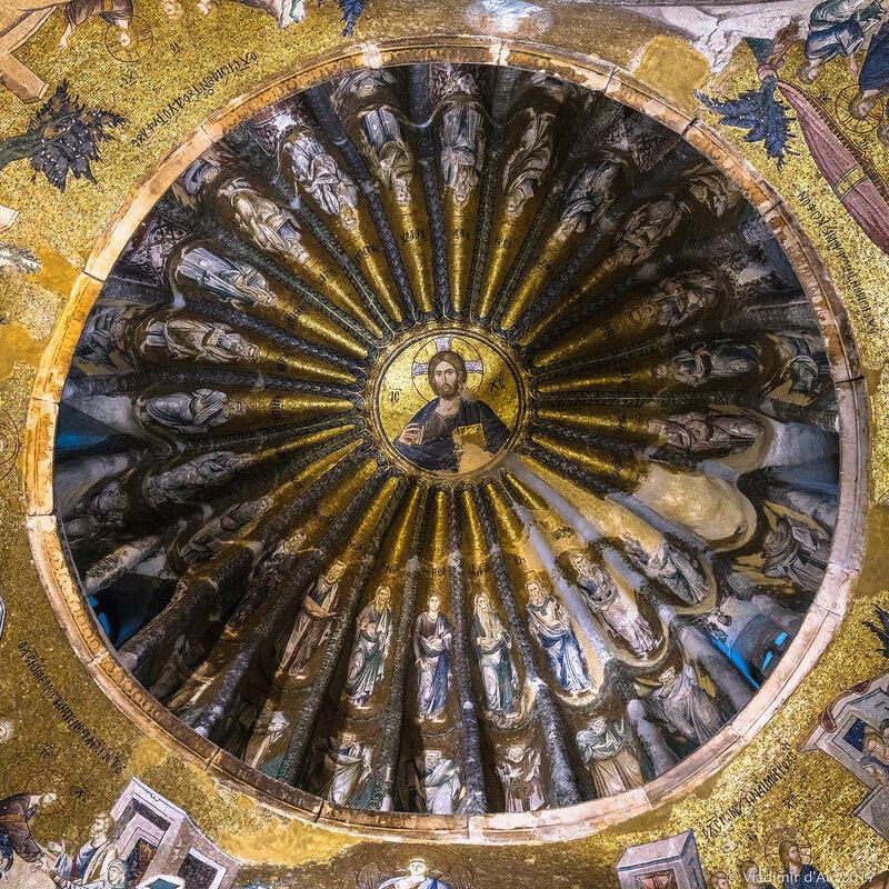 Христос Вседержитель. Мозаики и фрески монастыря Хора. Церковь Христа Спасителя в Полях.