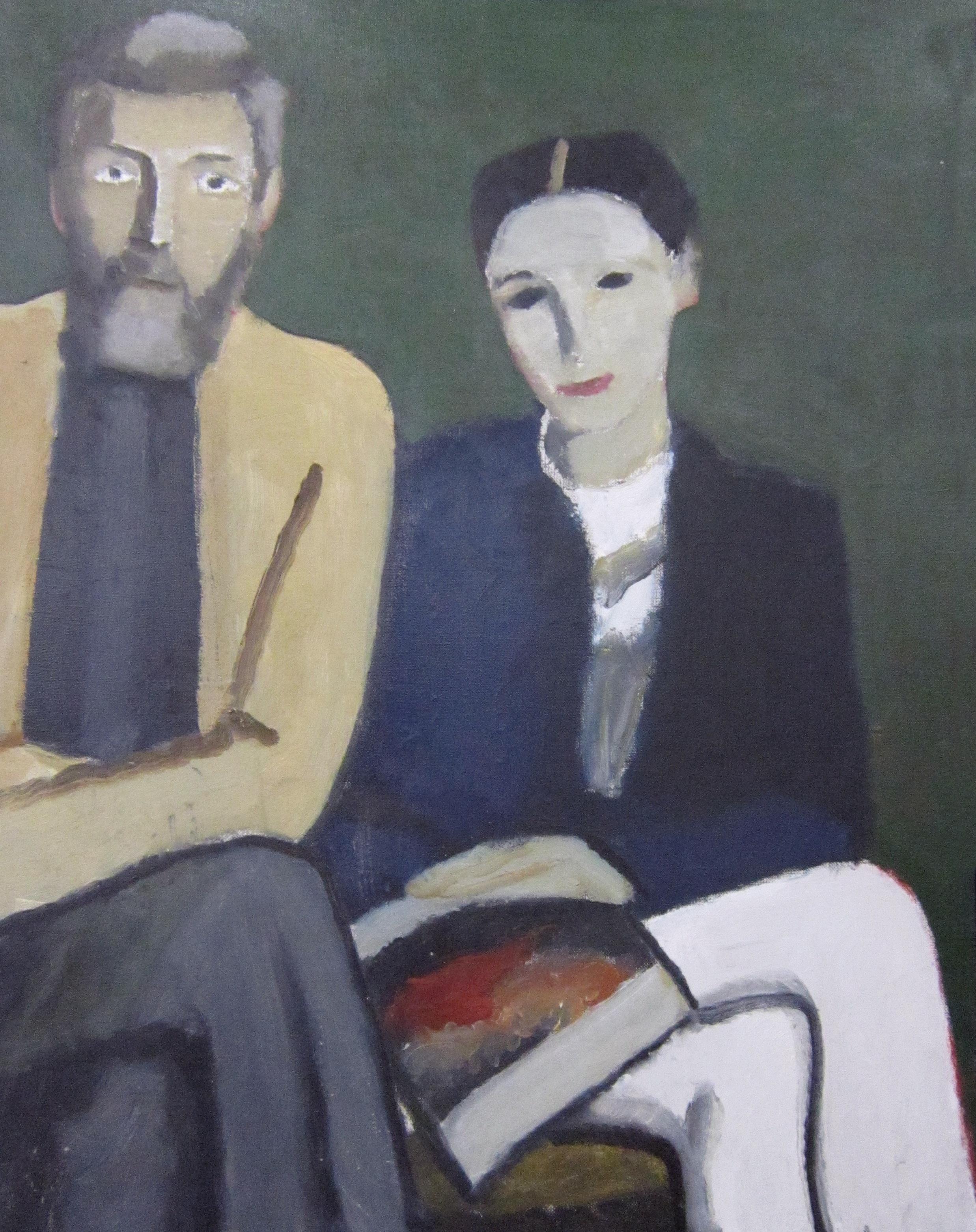Тимофей Фёдорович Теряев (1919-2001 г.г.). Двойной портрет. 1992 год.