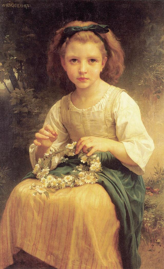 Child Braiding A Crown (1874)