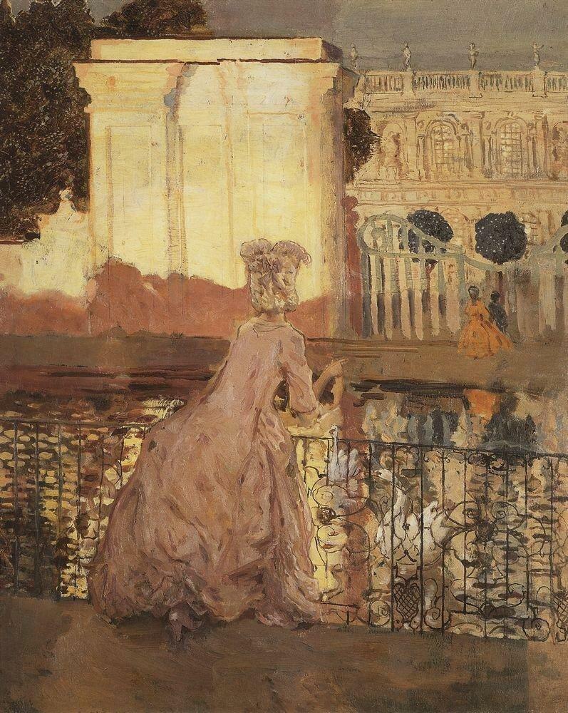 Дама у пруда. 1896.jpg