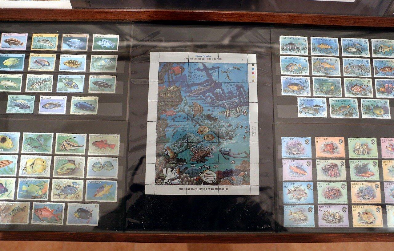 Морской музей в Искья-Понте. Коллекция почтовых марок
