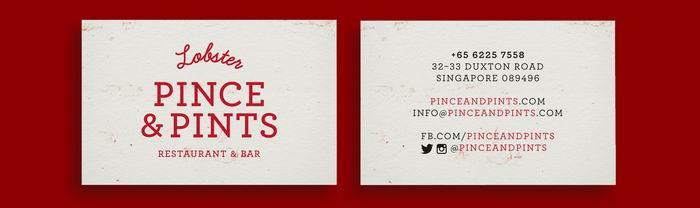 Пиво и лобстеры! Айдентика для ресторана Pince & Pints. Сингапур. Студия Вravo