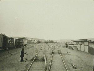Вид железнодорожного полотна на станции Китайский разъезд Забайкальской железной дороги