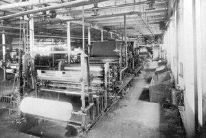Бумагоделательная машина для писчих и почтовых бумаг.