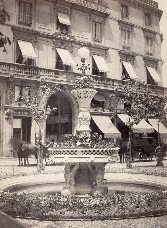 Газовый фонарь. Фонтан Давиу. 1865