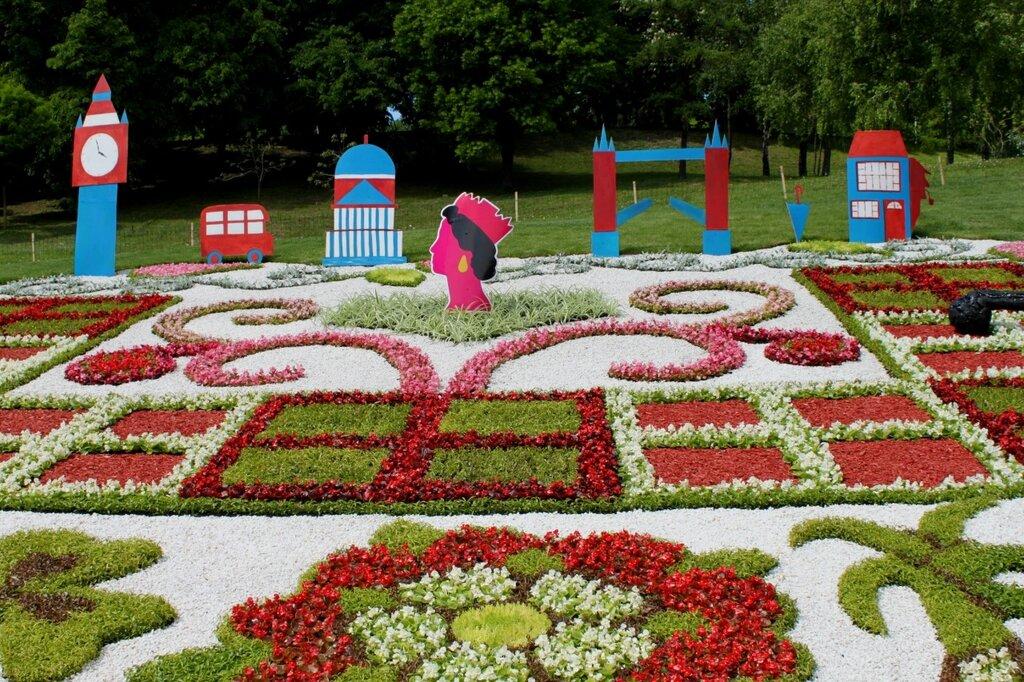 Великобритания из цветов