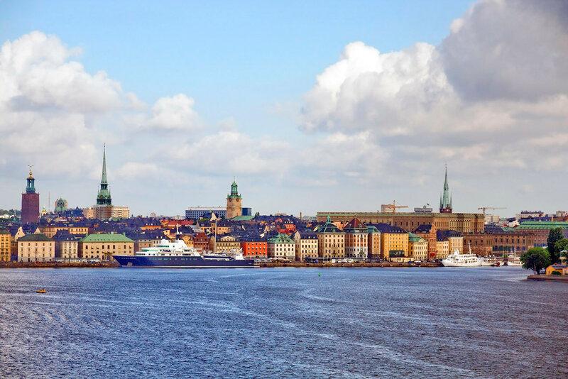 Стокгольм. Вид на город с моря.
