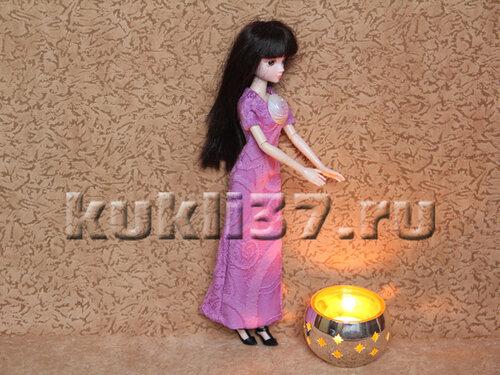 длинное облегающее платье для Барби