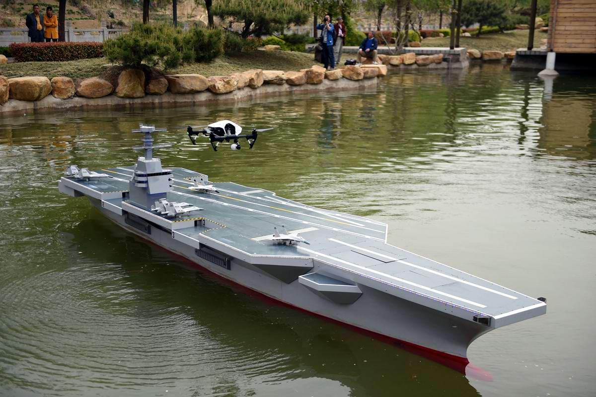 Первый ударный китайский авианосец ... в виде действующей модели