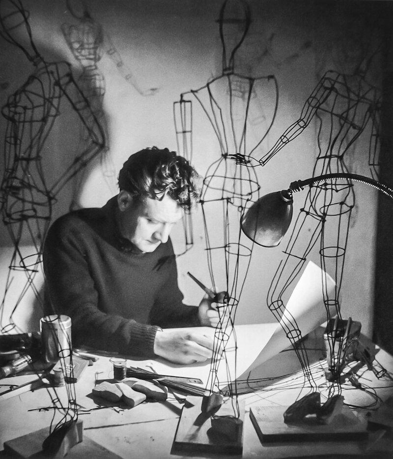 1945. Сен-Мартен, создатель проволочных манекенов