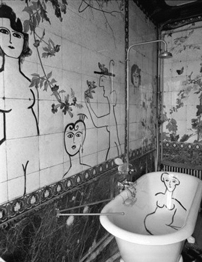 1955. В ванной комнате Сола Стейнберга