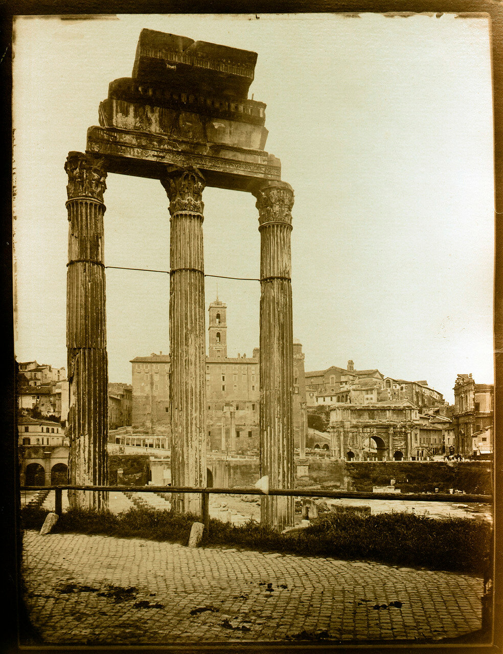 Храм Кастора и Поллукса.  1857
