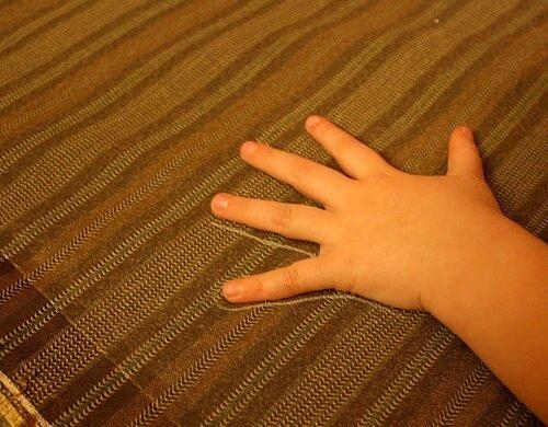 аппликация из ткани - поделки с детьми