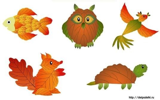 Поделкам из листьев