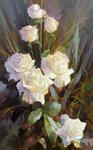 """""""Розы белые"""" х.м. 80-50см. 2006г"""