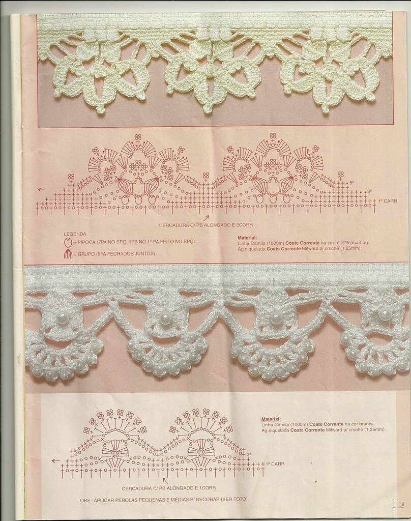 Crocheting Borders : crochet border: barradinhos make handmade, crochet, craft