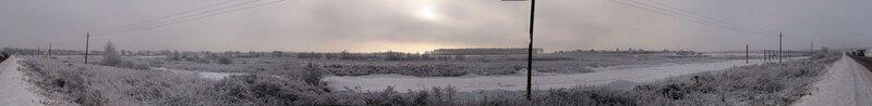 Панорама стройплощадки Новорижский-2 со стороны дороги