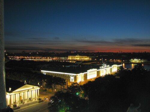 Ночной Санкт-Петербург, вид с Исаакиевского собора
