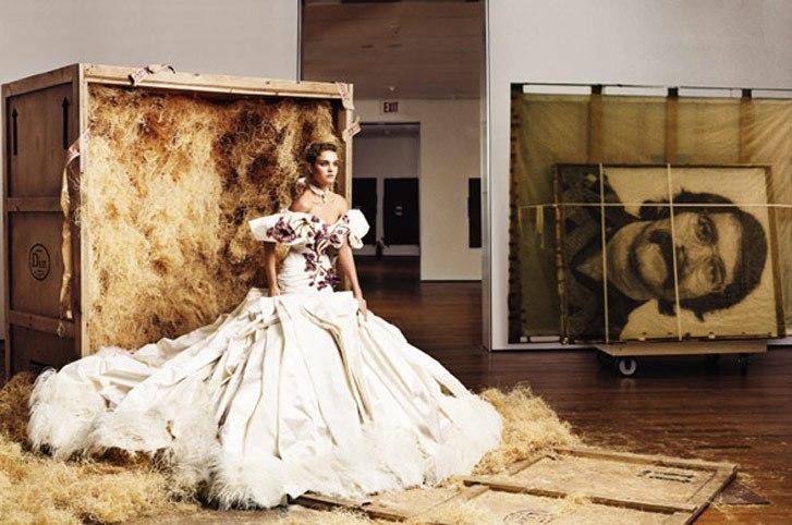 модель Наталья Водянова / Natalia Vodianova, фотограф Annie Leibovitz