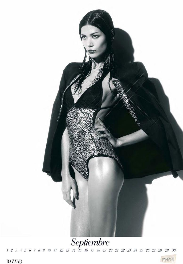 Шейла Маркес / Sheila Marquez by Nico in Harper-s Bazaar Spain 2011 calendar - сентябрь