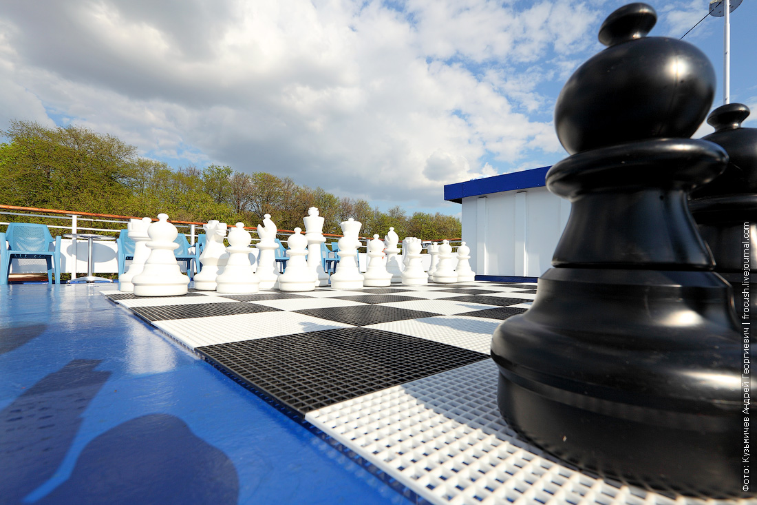 теплоход Дмитрий Фурманов гигантские шахматы