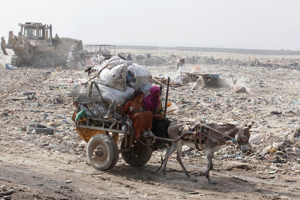 Свалка в пригороде Багдада