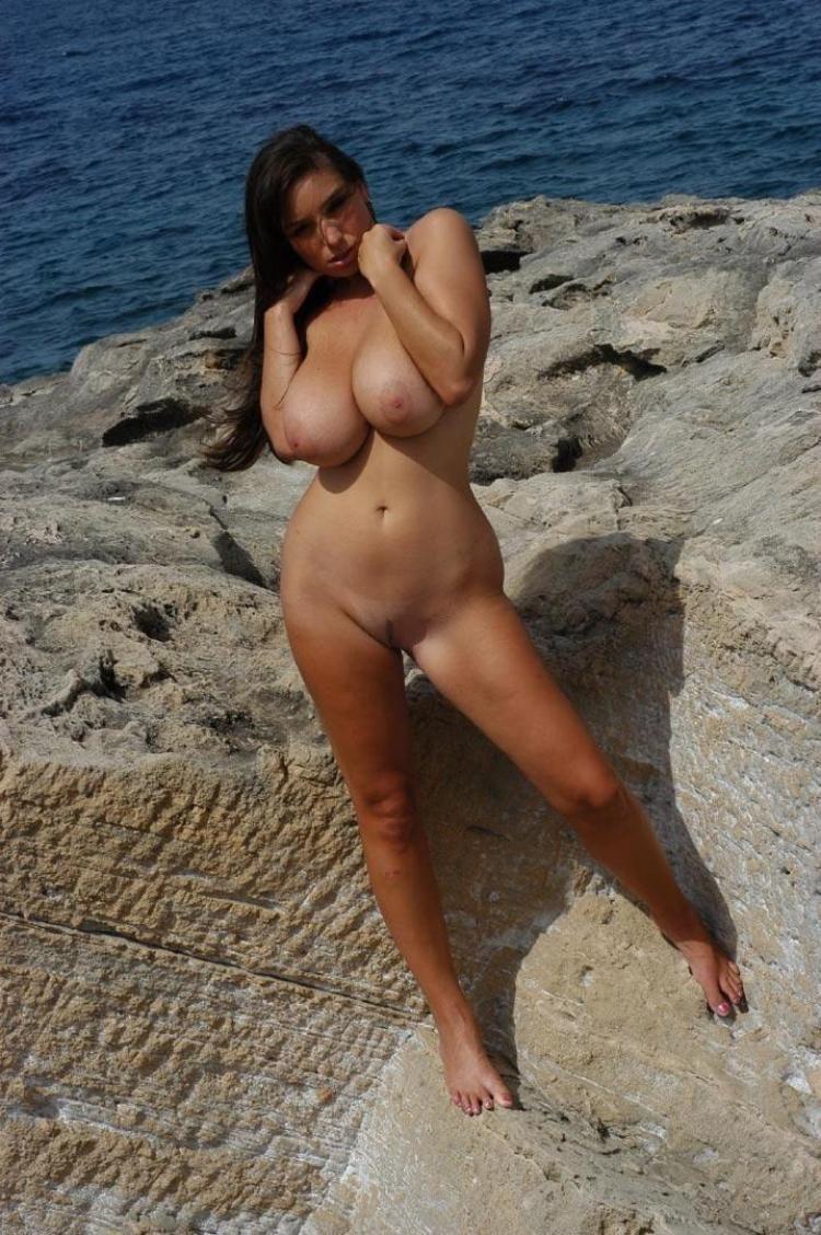 Boobs beach big topless