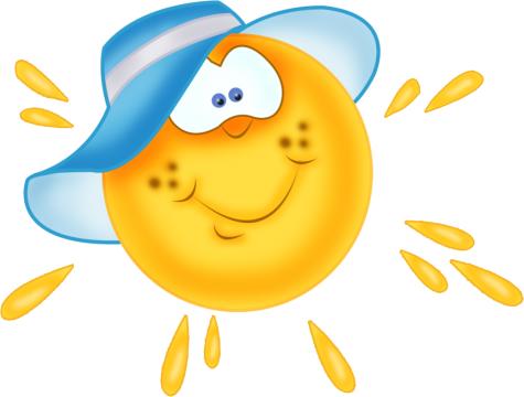 Открытки. 3 мая День Солнца! Солнце в панамке