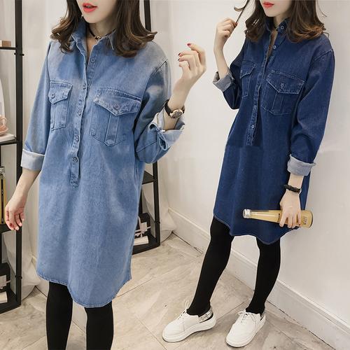 Женские джинсовые платья больших размеров