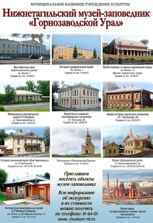 Музеи Нижнего Тагила.