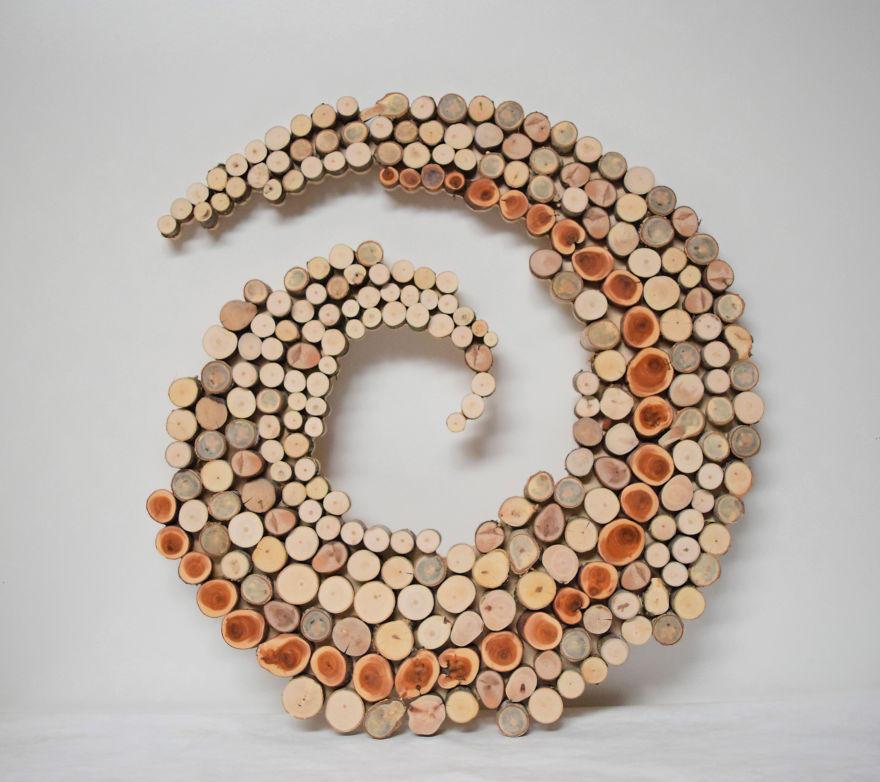 Скульптуры из переработанного дерева