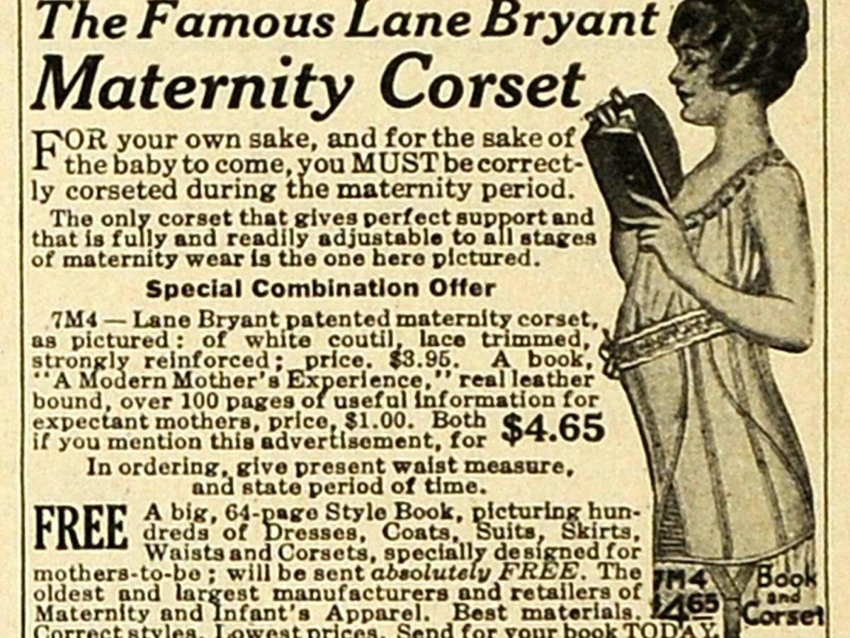 5. Носите корсет! В прошлом для беременных женщин не было ничего хуже, чем выглядеть беременными. Ре