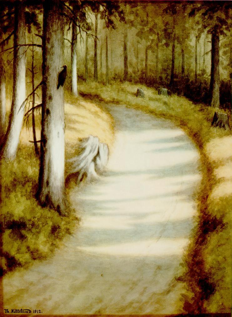 «Дятел», 1912. «Снопы пшеницы в лунном свете», около 1900.