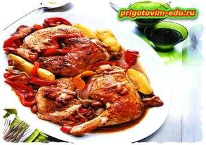 Курица с фасолью по-испански