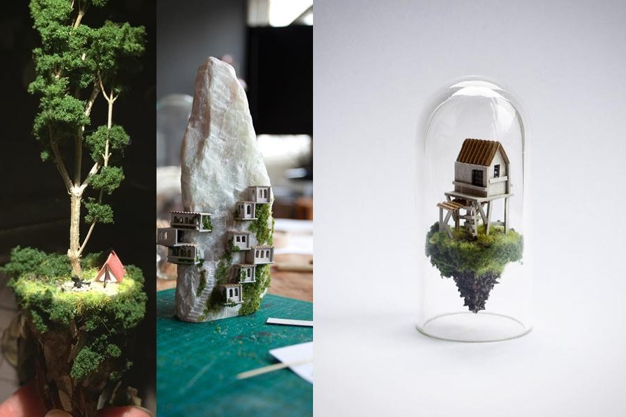 Роза де Йонг: миниатюрные миры в стеклянных пробирках