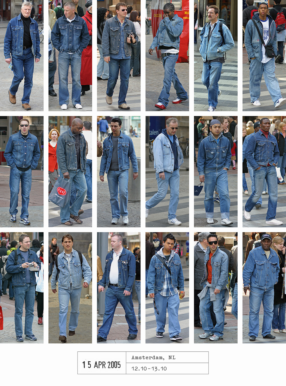 Photographer Spends 20 Years Documenting How We All Dress Exactly Alike (9 pics)