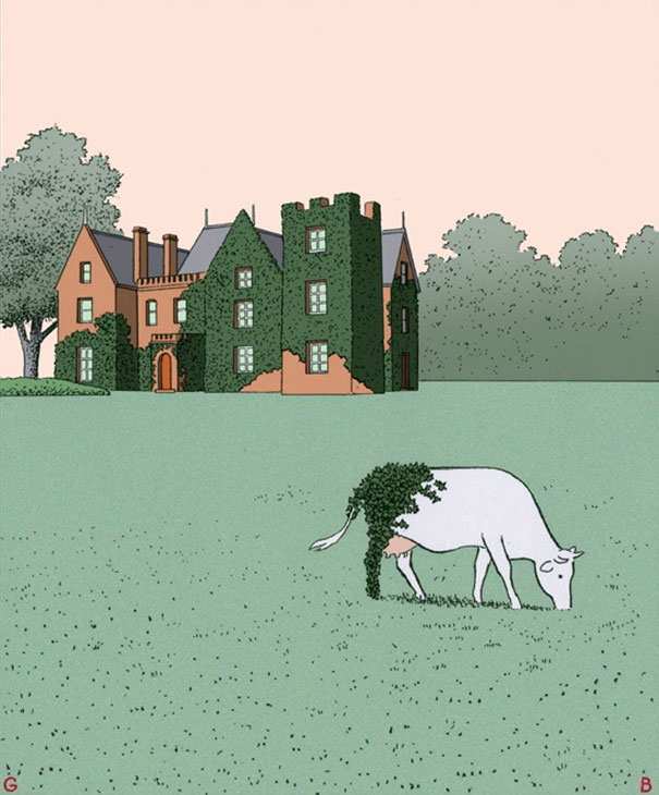 As ilustracoes de Guy Billout vao te deixar um pouco confuso