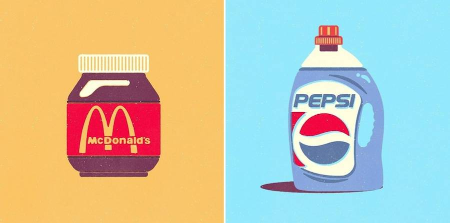 Inventive Brand Mix Digital Illustrations (14 pics)