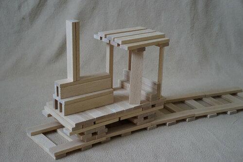 Поезд из плашек (кубиков) Фундера (Fundera) из Ikea (Икеа)