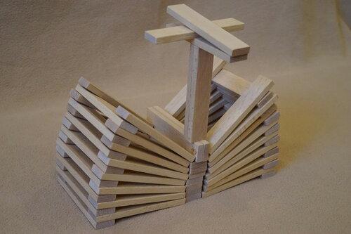 Птица из плашек (кубиков) Фундера (Fundera) из Ikea (Икеа)
