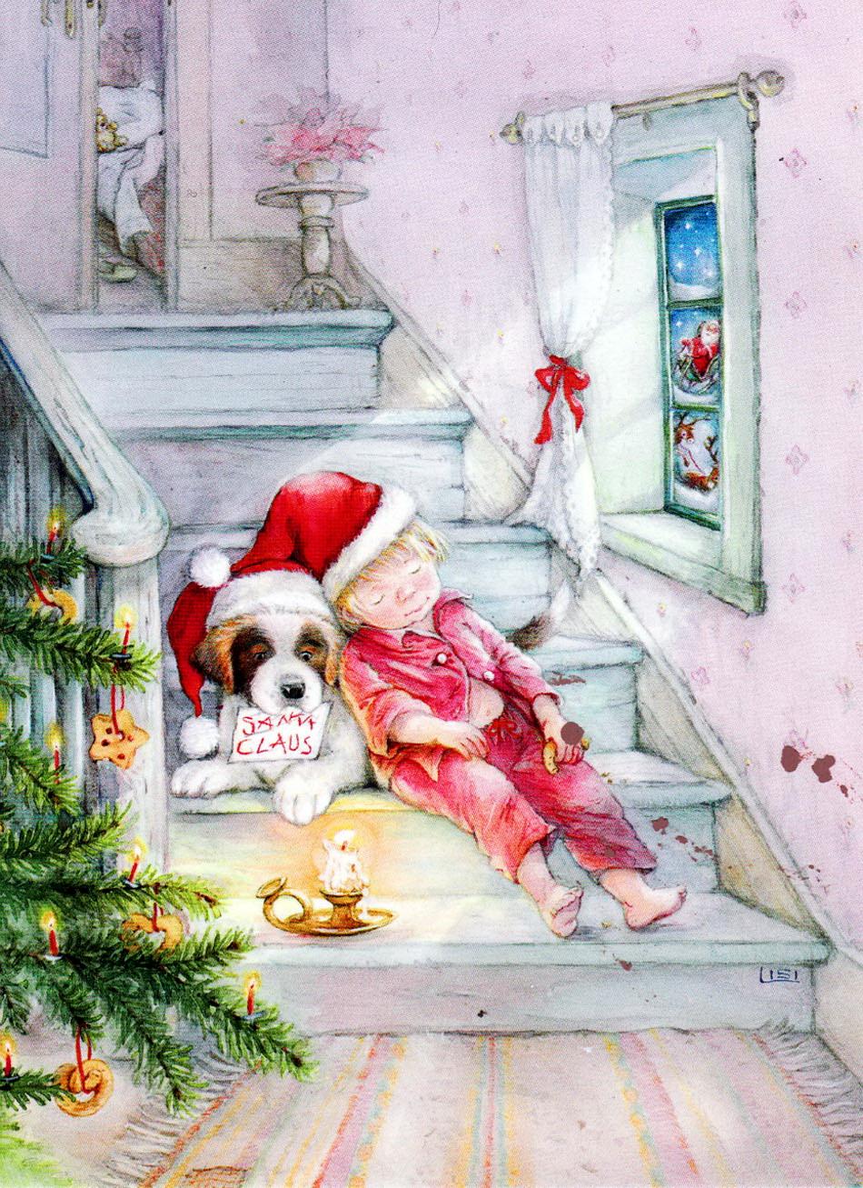 сын рисунки в ожидании рождества глубине сцены просматривается