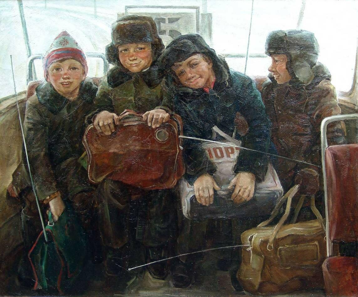 А. Е. Емельянов. Дети с рапирами. 1985 г..jpg
