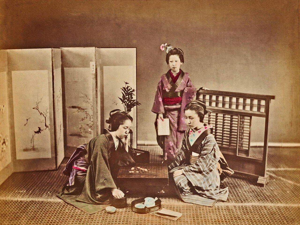 Женщины играют в го. 1876