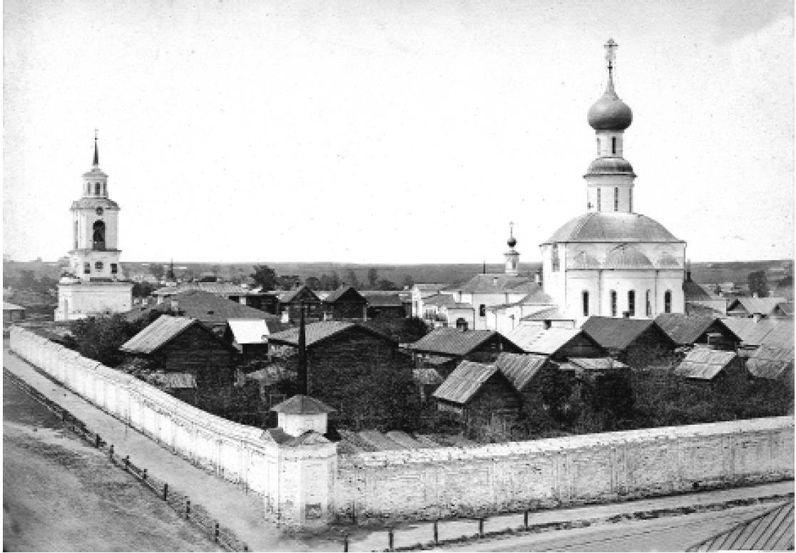 Успенский Княгинин девичий монастырь. Юго-восточная панорама. Кукушкин В.Г. 1876 - 1881