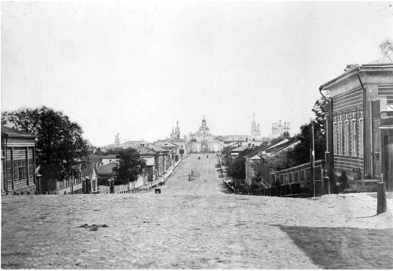 Дворянская улица. Вид Владимира со Студеной горы. Кукушкин В.Г. 1876-1881