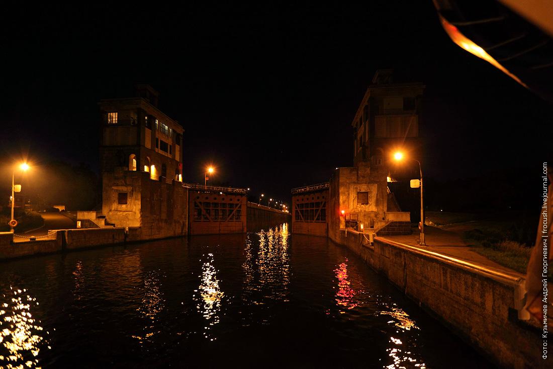 вечернее фото шлюз №8 канала имени Москвы