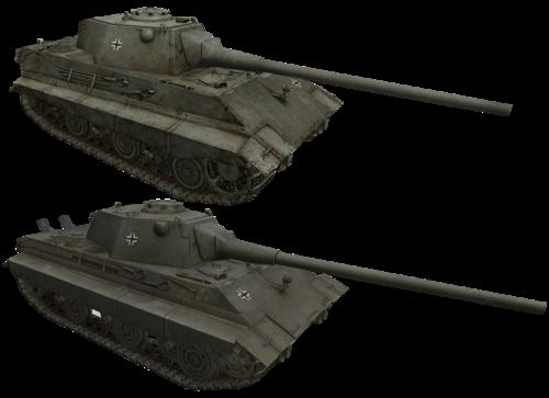 танк E-50 ausf.M и E-50 Сравнение