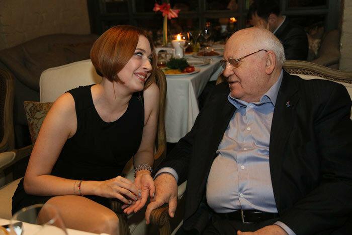 Татьяна Фельгенгауэр и Михаил Горбачев